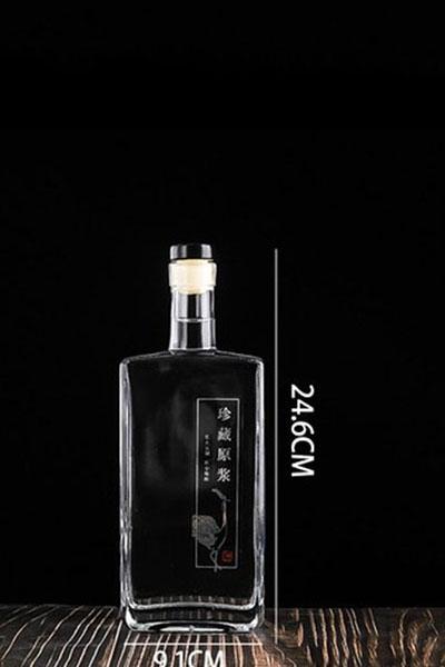 晶白酒瓶- 008